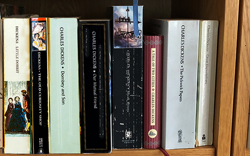 Dickens books on my shelf
