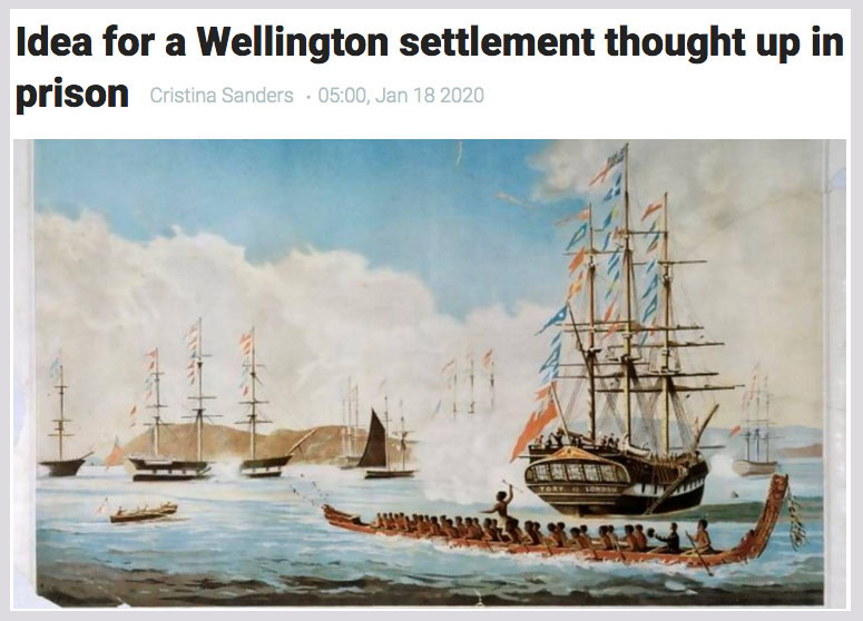 Idea for a Wellington settlement thought up in prison